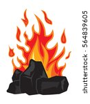 charcoal  and fire | Shutterstock .eps vector #564839605