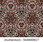 saturated kaleidoscope seamless ...   Shutterstock .eps vector #564840817