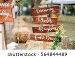 wooden sign in wedding ceremony   Shutterstock . vector #564844489
