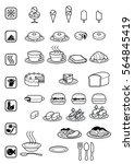 ice cream fast food  breakfast... | Shutterstock .eps vector #564845419