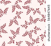 seamless pattern with branches. ... | Shutterstock .eps vector #564847645