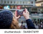 anti trump day demonstration.... | Shutterstock . vector #564847699