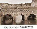 view of pulteney bridge over... | Shutterstock . vector #564847891