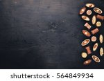 assortment of chocolates with... | Shutterstock . vector #564849934