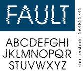 vector glitched alphabet ... | Shutterstock .eps vector #564855745