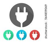 plug icon flat design vector set | Shutterstock .eps vector #564859069