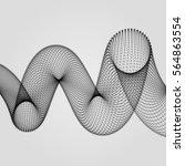 abstract spiral. 3d vector... | Shutterstock .eps vector #564863554