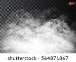 fog or smoke isolated... | Shutterstock .eps vector #564871867