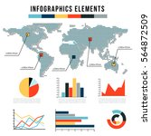 modern infographics elements.... | Shutterstock .eps vector #564872509