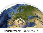 planet earth from space showing ...   Shutterstock . vector #564876919