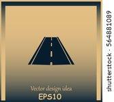 road icon  vector | Shutterstock .eps vector #564881089