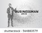 businessman consists of... | Shutterstock .eps vector #564883579