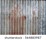 old damage rusty zinc plat wall | Shutterstock . vector #564883987
