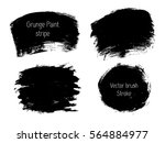 set of grunge vector texture... | Shutterstock .eps vector #564884977