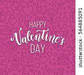 romantic valentine day card.... | Shutterstock .eps vector #564885091