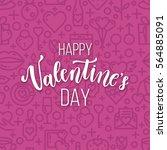 romantic valentine day card.... | Shutterstock .eps vector #564885091