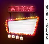 welcome signboard retro style... | Shutterstock . vector #564893587