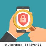 search hands mobile phone... | Shutterstock .eps vector #564896491