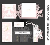 wedding collection. couple...   Shutterstock .eps vector #564904009