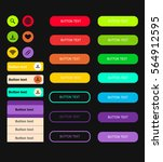 set of colored web buttons in... | Shutterstock .eps vector #564912595