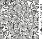 vector black and white round... | Shutterstock .eps vector #564917074