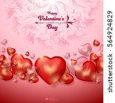 valentine's day background. red ... | Shutterstock .eps vector #564924829