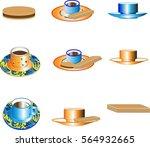cup of tea  cup of coffee  ... | Shutterstock .eps vector #564932665