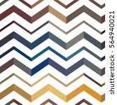 awesome colorful zigzag... | Shutterstock .eps vector #564940021