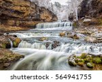willow river falls after first... | Shutterstock . vector #564941755