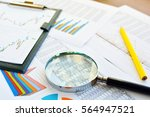 financial printed paper charts  ... | Shutterstock . vector #564947521