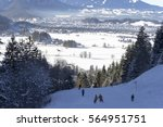 ski run in bavaria overlooking... | Shutterstock . vector #564951751