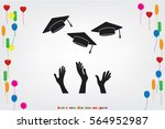 students of pupil hands... | Shutterstock .eps vector #564952987