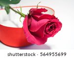 red rose and heart  front view | Shutterstock . vector #564955699