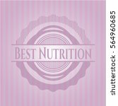 best nutrition badge with pink...
