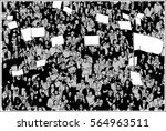 illustration of crowd... | Shutterstock .eps vector #564963511