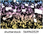 illustration of crowd... | Shutterstock .eps vector #564963529