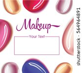 makeup design template with... | Shutterstock .eps vector #564964891