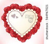 valentine's day vintage card...   Shutterstock .eps vector #564967021