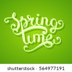 spring time typography title... | Shutterstock .eps vector #564977191