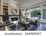 chic living room filled with... | Shutterstock . vector #564983497