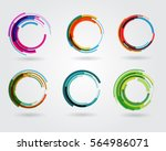 geometric circle entwined... | Shutterstock .eps vector #564986071