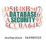 security concept  painted green ... | Shutterstock . vector #564989335