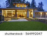luxurious new construction home ... | Shutterstock . vector #564992047