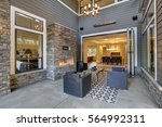 well designed covered patio... | Shutterstock . vector #564992311