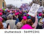 washington dc  usa january 21 ... | Shutterstock . vector #564992341