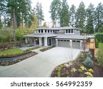 luxurious new construction home ... | Shutterstock . vector #564992359