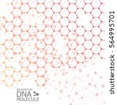abstract dna background. vector ... | Shutterstock .eps vector #564995701