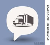 pictograph of truck | Shutterstock .eps vector #564995905