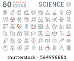 set vector line icons  sign and ... | Shutterstock .eps vector #564998881