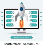 new business project start up... | Shutterstock .eps vector #565001371
